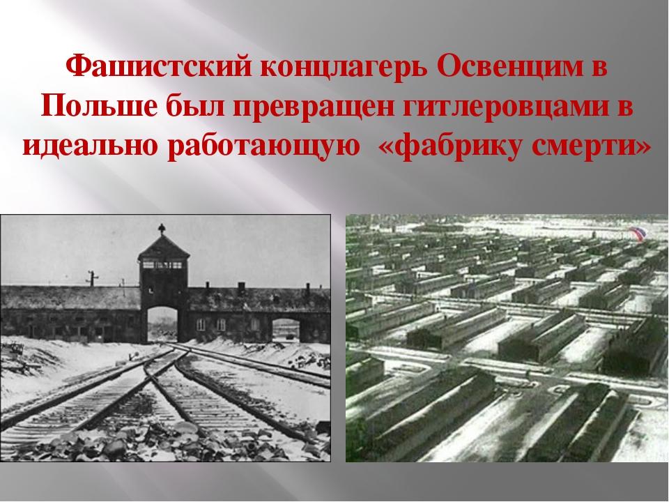 Фашистский концлагерь Освенцим в Польше был превращен гитлеровцами в идеально...
