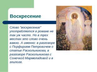 """Воскресение Слово """"воскресение"""" употребляется в романе не так уж часто. Но в"""