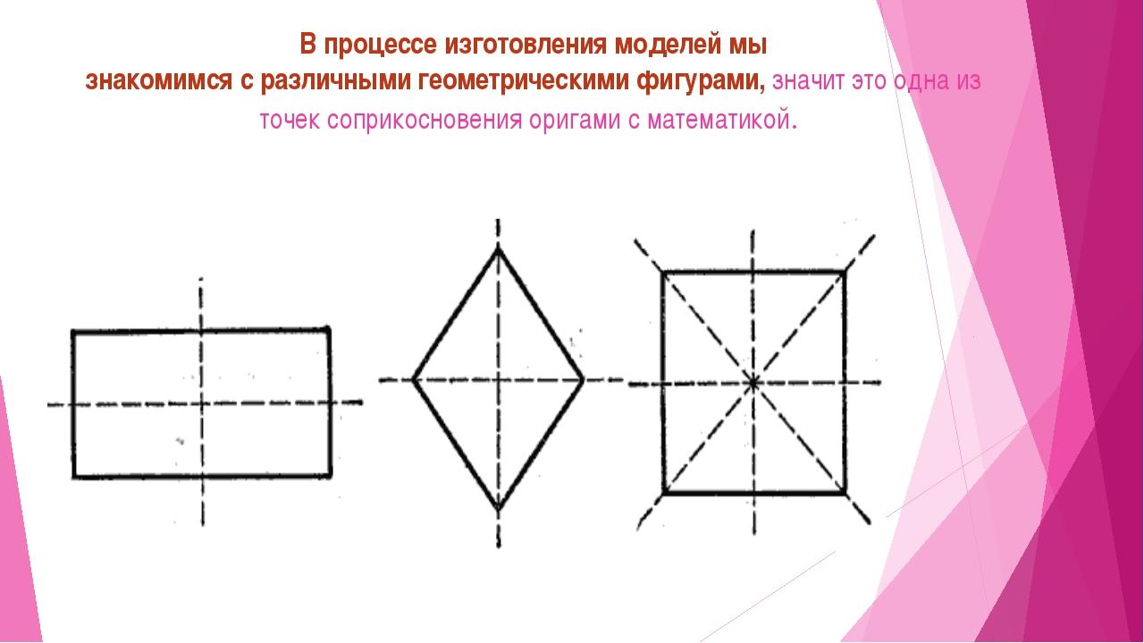 В процессе изготовления моделей мы знакомимся с различными геометрическими фи...