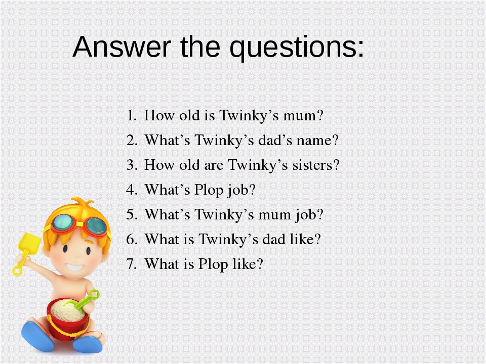 How old is Twinky's mum? What's Twinky's dad's name? How old are Twinky's sis...