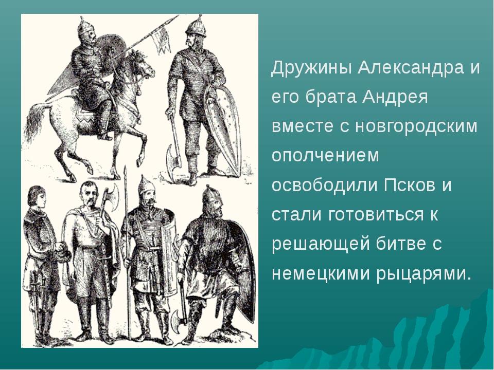Дружины Александра и его брата Андрея вместе с новгородским ополчением освобо...