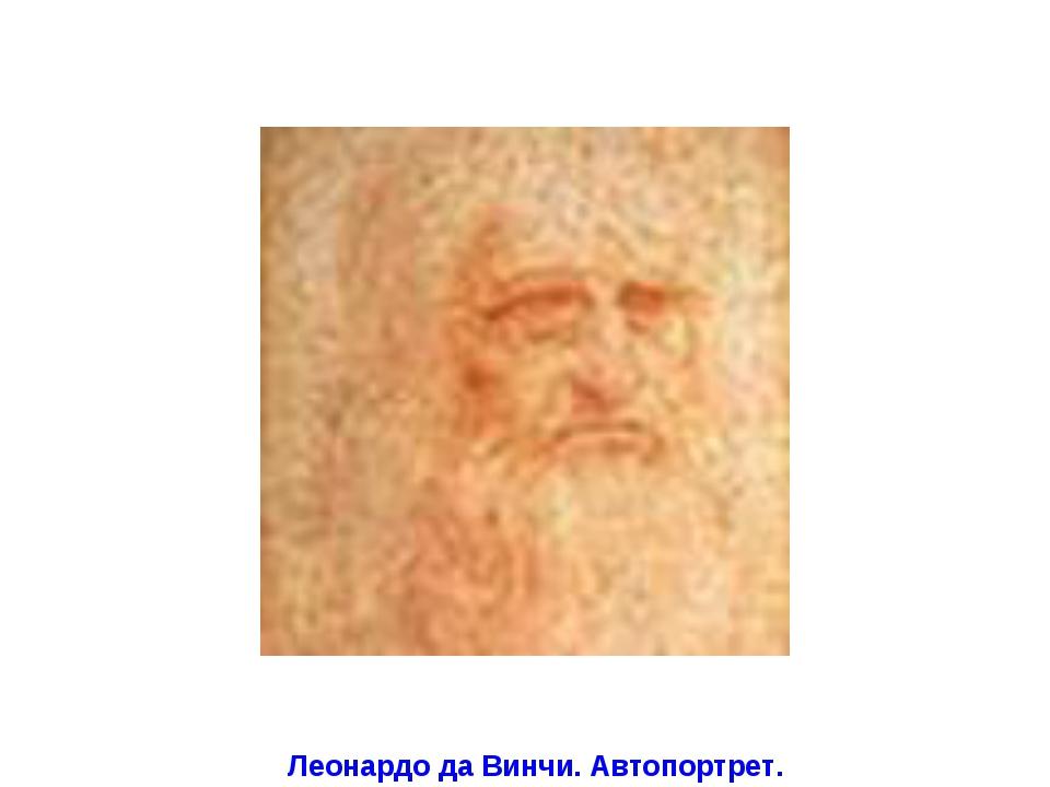 Леонардо да Винчи. Автопортрет.