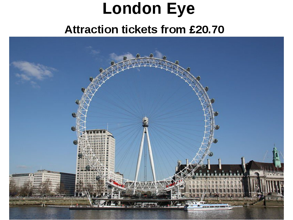 London Eye Attraction tickets from £20.70