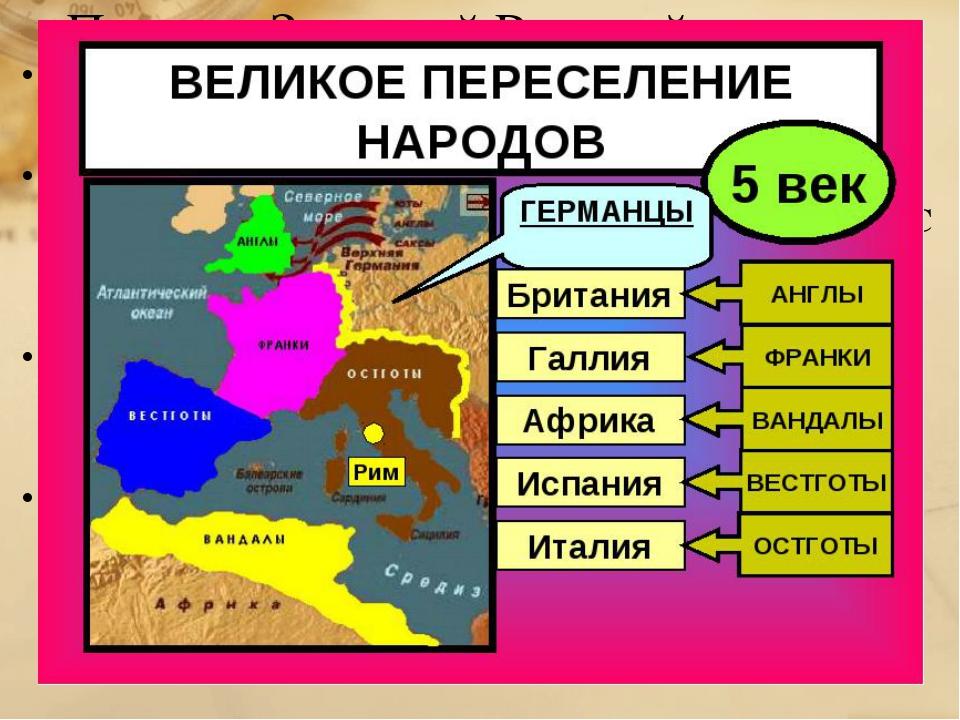Падение Западной Римской империи Власть империи не могла воспрепятствовать ос...