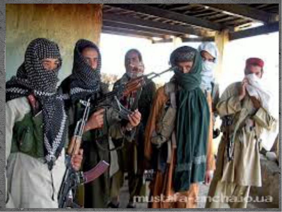 Афганские моджахеды — члены нерегулярных вооружённых формирований, мотивиров...