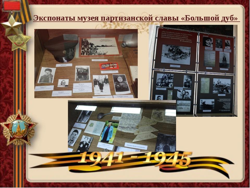 Экспонаты музея партизанской славы «Большой дуб»