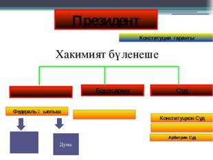 Суд Башкарма Федераль җыелыш Конституцион Суд Арбитраж Суд Президент Констит