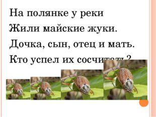 На полянке у реки Жили майские жуки. Дочка, сын, отец и мать. Кто успел их со