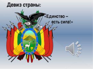 Девиз страны: «Единство – есть сила!»