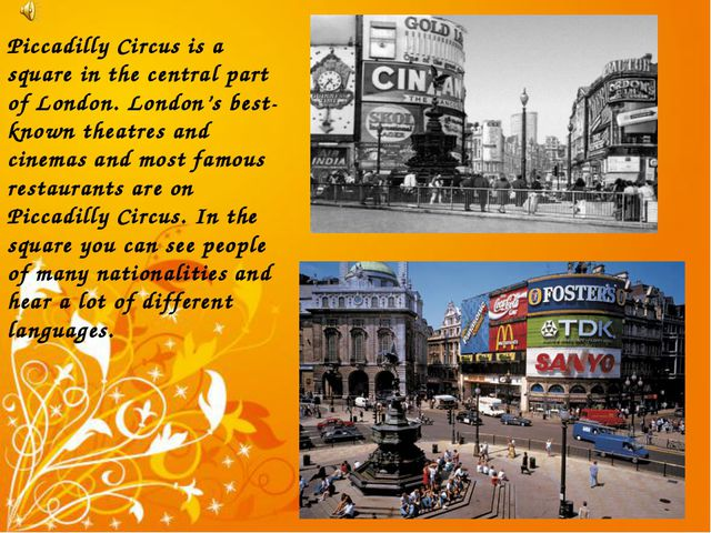 Piccadilly Circus is a square in the central part of London. London's best-kn...