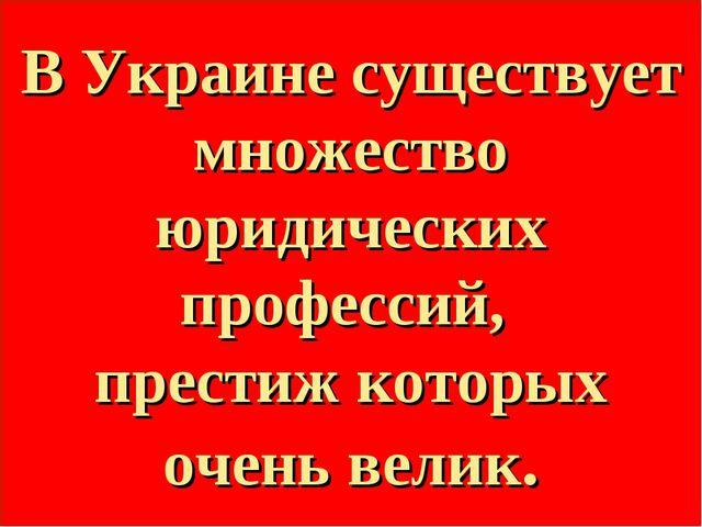 В Украине существует множество юридических профессий, престиж которых очень в...