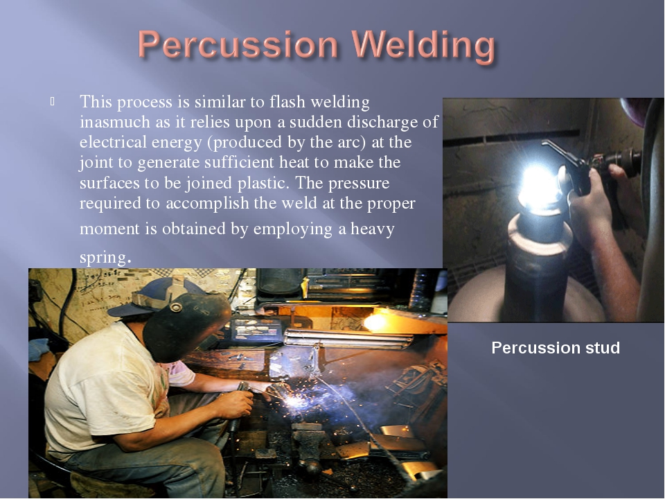 This process is similar to flash welding inasmuch as it relies upon a sudden...