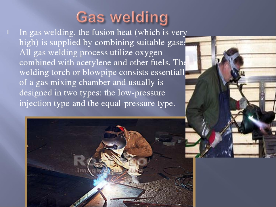 In gas welding, the fusion heat (which is very high) is supplied by combining...