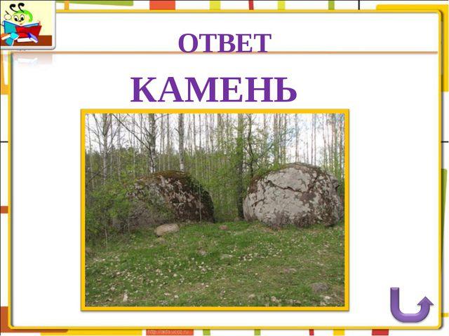 ОТВЕТ КАМЕНЬ