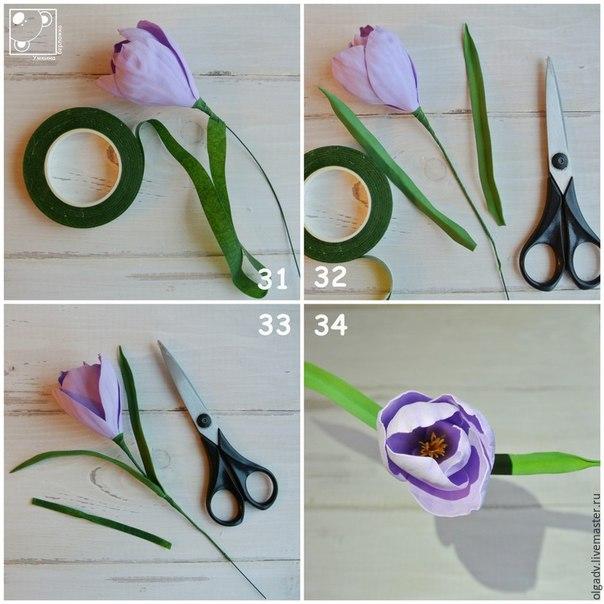 Весенние цветы из фоамирана своими руками 58