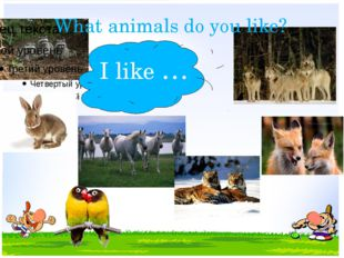 What animals do you like? I like …