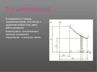 В координатах p-v площадь, ограниченная кривой, осью абсцисс и ординатами кра