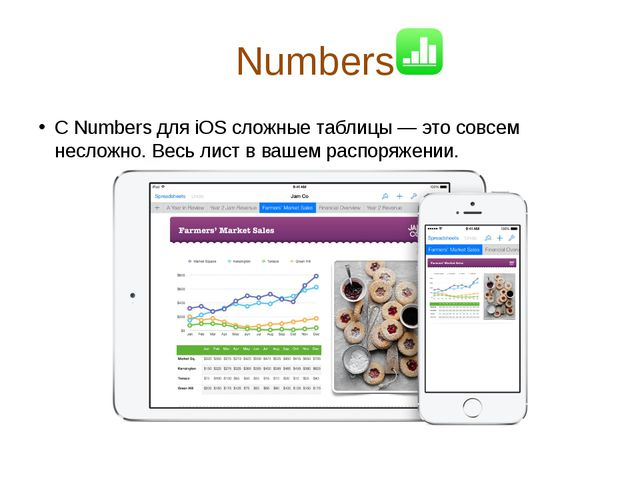 Numbers  С Numbers для iOS сложные таблицы — это совсем несложно. Весь лист...