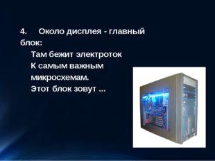 4. Около дисплея - главный блок: Там бежит электроток К самым важным микросхе