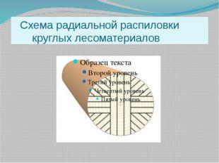 Схема радиальной распиловки круглых лесоматериалов