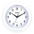 Часы настенные SCARLETT SC-55RA круг, белые, бело-коричневая рамка, плавный ход, 28х28х4,4 см - Энерготехника