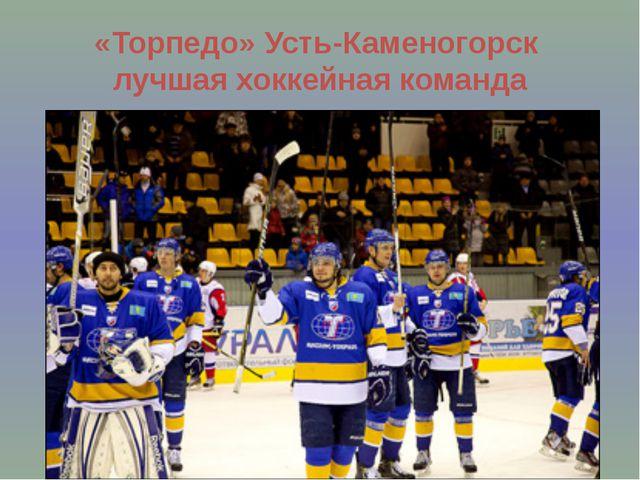 «Торпедо» Усть-Каменогорск лучшая хоккейная команда