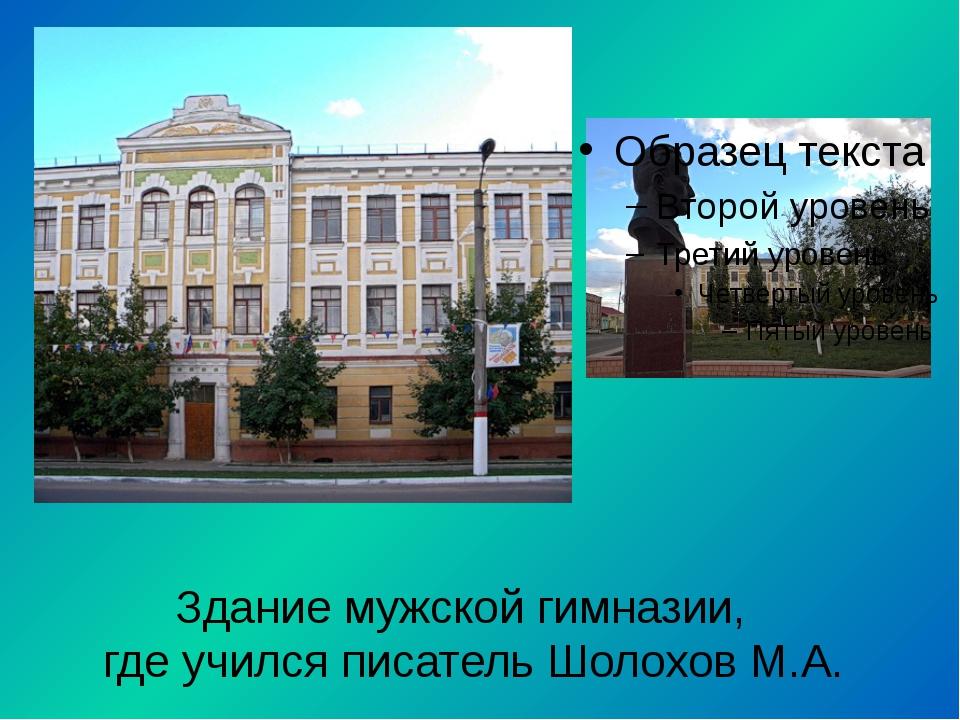 Здание мужской гимназии, где учился писатель Шолохов М.А.