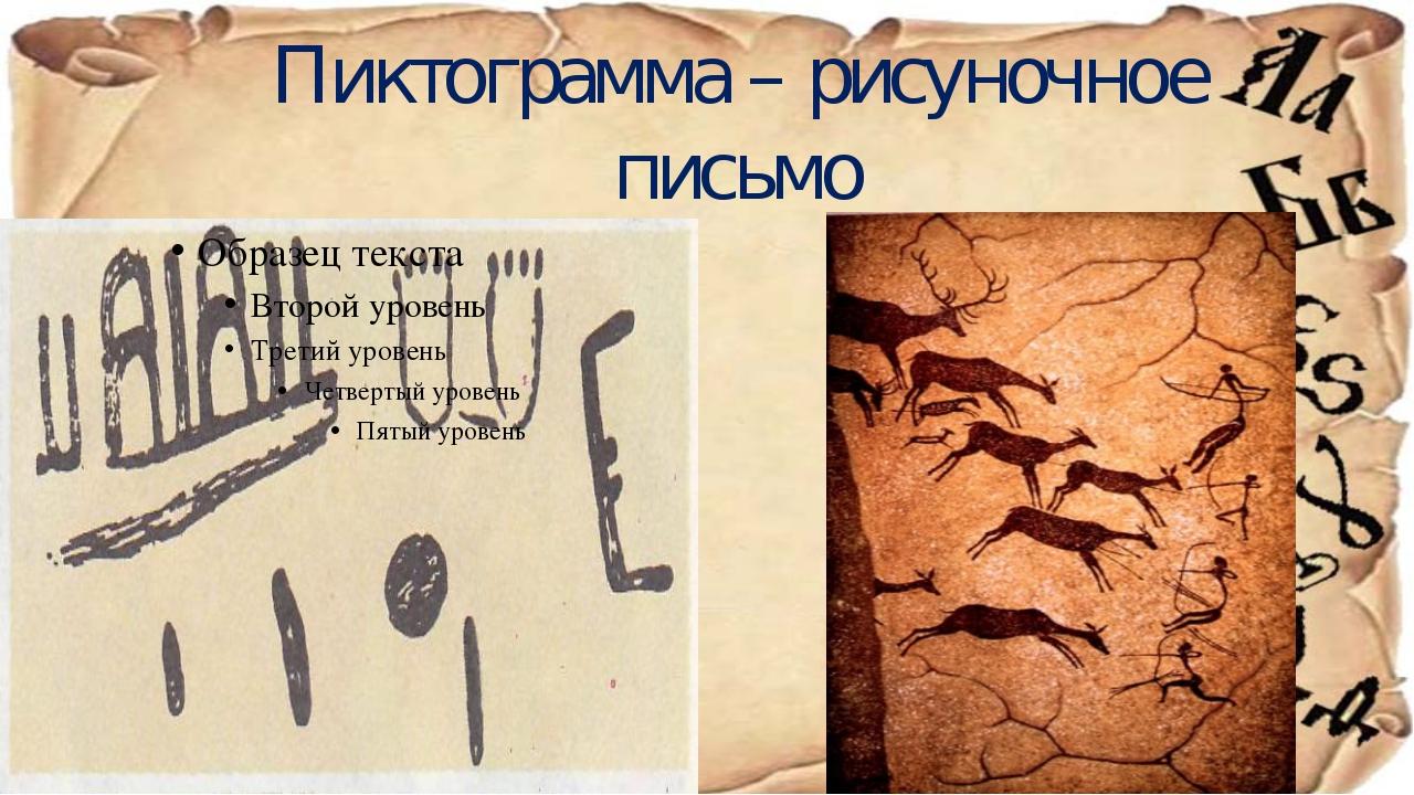 Пиктограмма – рисуночное письмо