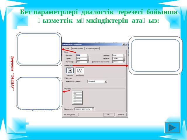 ТҮСІНДІР: Microsoft Word редакторында форматтау және рәсімдеу әрекеттерін мә...