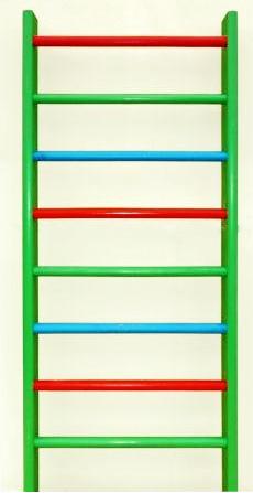 Стенка гимнастическая цветная 3,2м х 80см (перекладина береза) - Шведские стенки, скамейки, турники - Интернет-магазин - Фитбол.