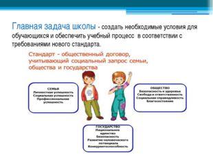 Главная задача школы - создать необходимые условия для обучающихся и обеспечи