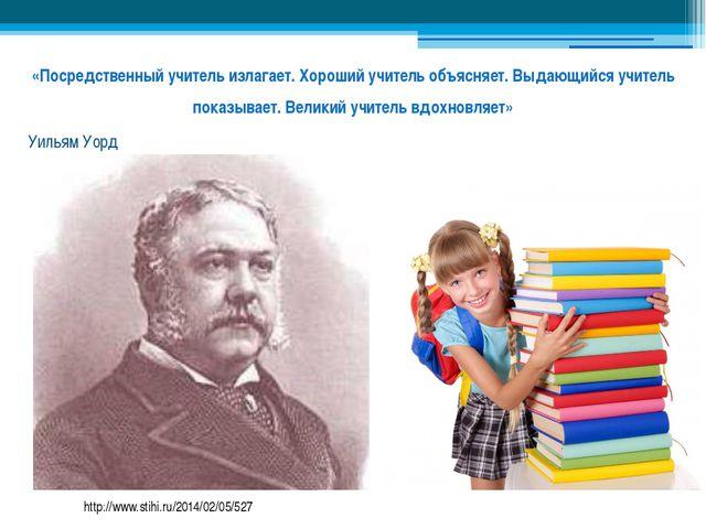 «Посредственный учитель излагает. Хороший учитель объясняет. Выдающийся учите...