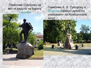 Памятник Суворову на месте редута на берегу Салгира Памятник А.В.Суворову в