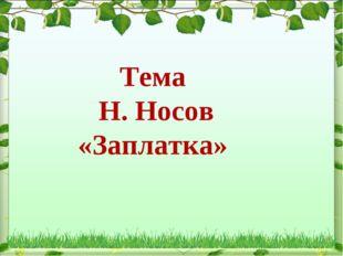 Тема Н. Носов «Заплатка»