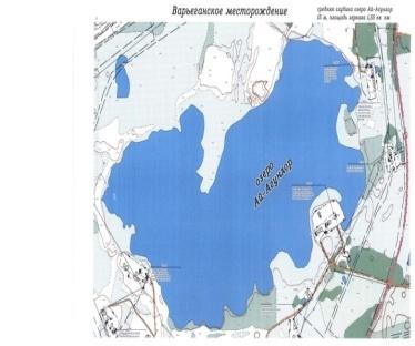 карта голубого озера