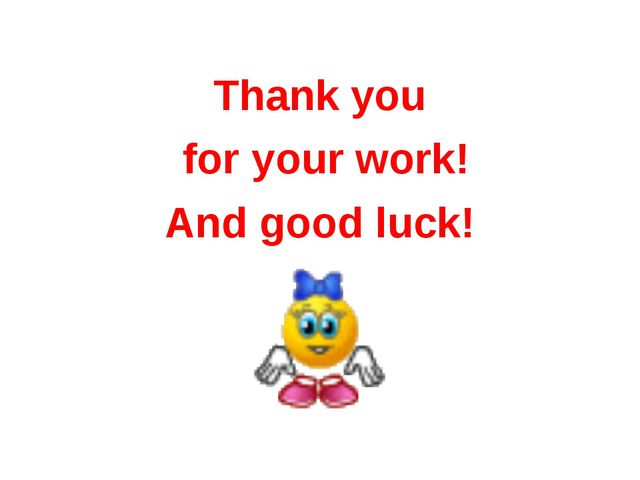 Thank you for your work! And good luck!
