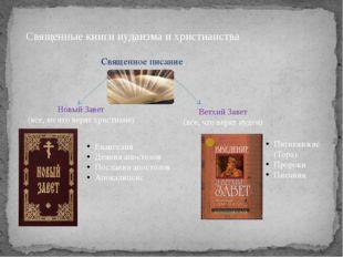 Священные книги иудаизма и христианства Священное писание Новый Завет (все, в