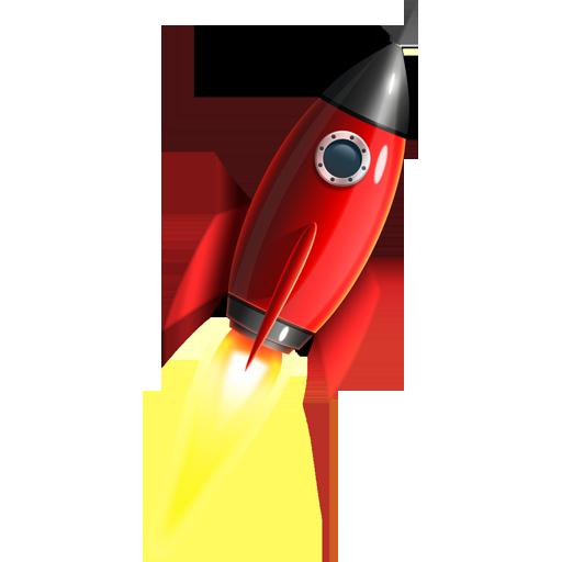 PSD исходник рисованной ракеты