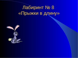 Лабиринт № 8 «Прыжки в длину»