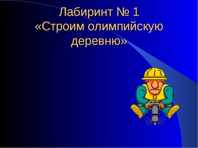 Лабиринт № 1 «Строим олимпийскую деревню»