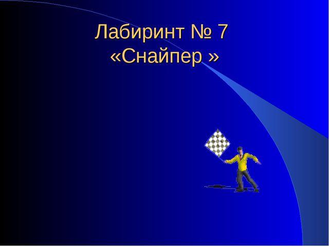 Лабиринт № 7 «Снайпер »