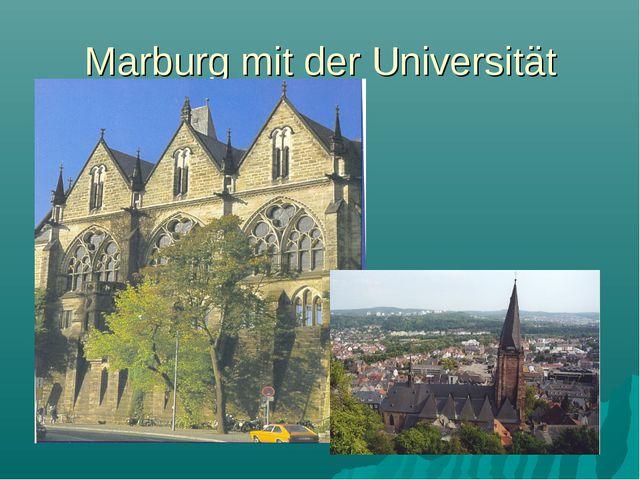 Marburg mit der Universität