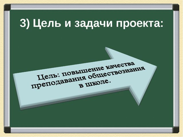 3) Цель и задачи проекта: