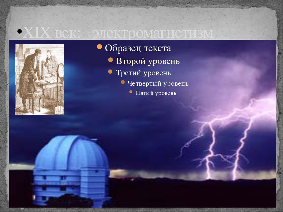 XIX век: электромагнетизм