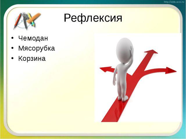 Рефлексия Чемодан Мясорубка Корзина