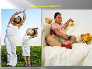 4.Образ жизни человека 50% 50 %