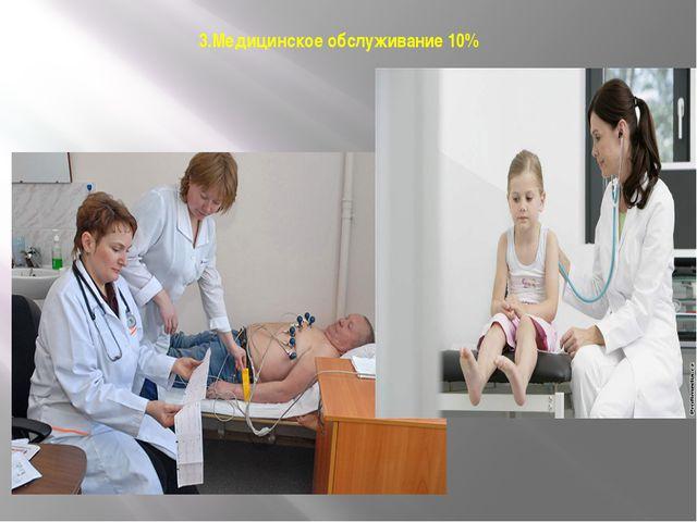 3.Медицинское обслуживание 10% 10 %