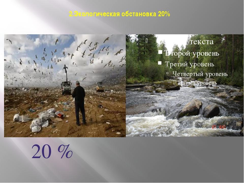 2.Экологическая обстановка 20% 20 %
