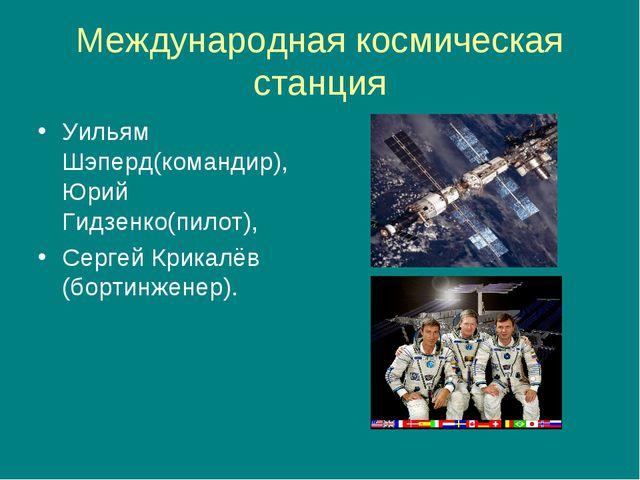 Международная космическая станция Уильям Шэперд(командир), Юрий Гидзенко(пило...