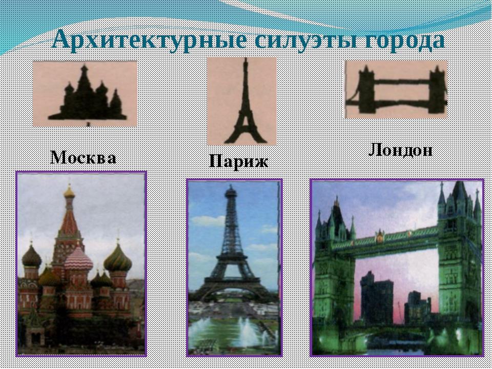 Москва Париж Лондон Архитектурные силуэты города